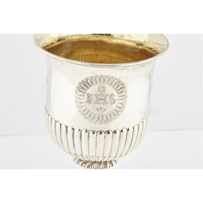 Lot 475 - A matched set of four communion cups