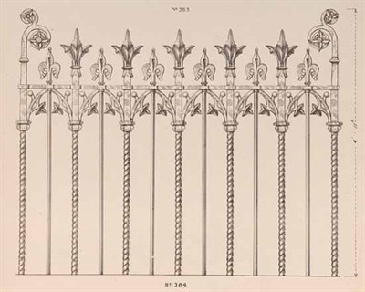 Lot 43 - IRON WORK Catalogue of architectural and...