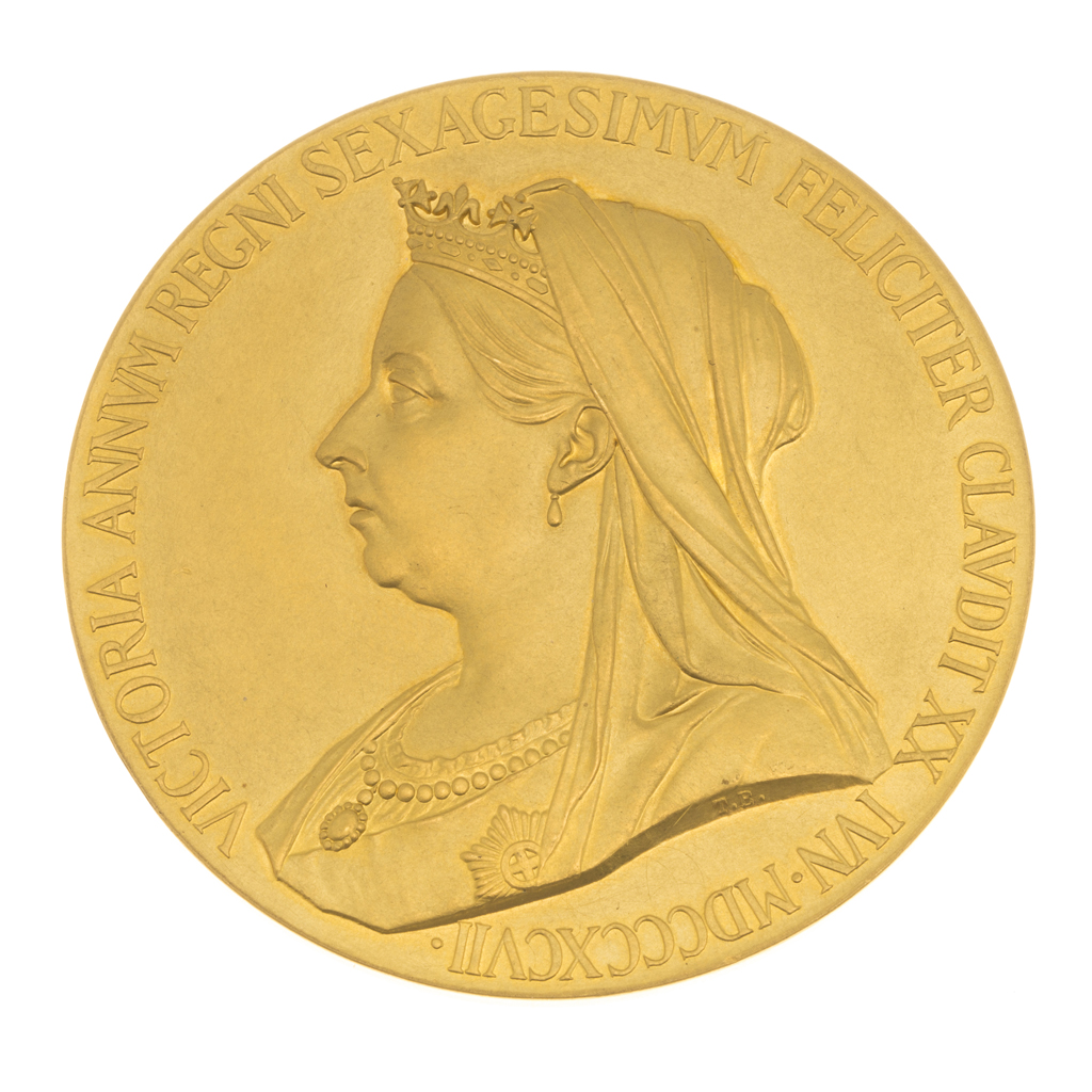 247 - GB - An 1897 Queen Victoria Diamond Jubilee Gold Medal