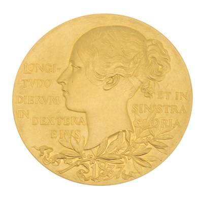 Lot 247-GB - An 1897 Queen Victoria Diamond Jubilee Gold Medal