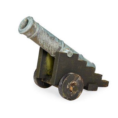 Lot 45 - SPANISH (MEXICAN) PATINATED BRONZE CANNON
