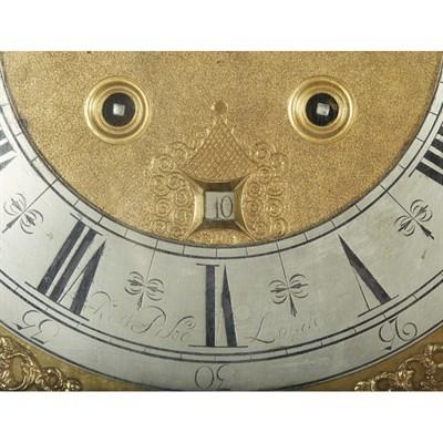Lot 2-QUEEN ANNE SEAWEED MARQUETRY LONGCASE CLOCK, ROBERT PIKE, LONDON