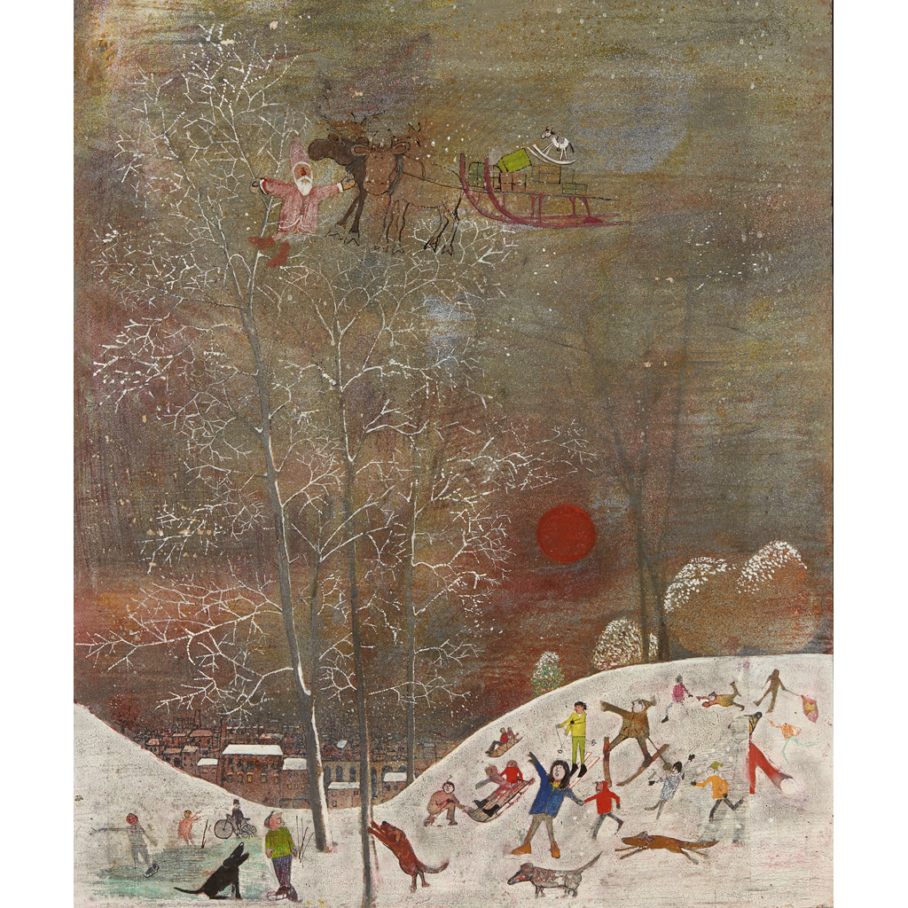 Lot 43-JOHN BURNINGHAM (B. 1936)