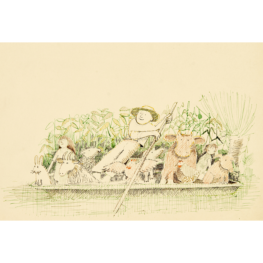 Lot 20-JOHN BURNINGHAM (B. 1936)