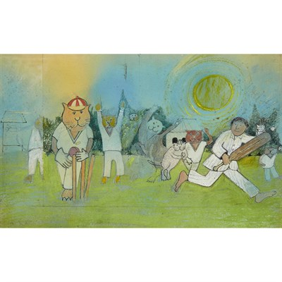 Lot 46-JOHN BURNINGHAM (B. 1936)