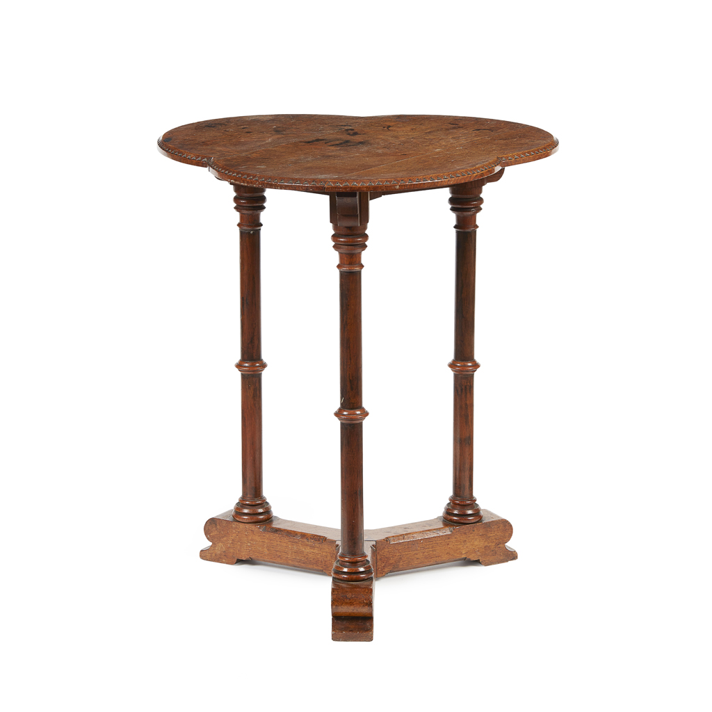 Lot 12-A GOTHIC REVIVAL OAK LAMP TABLE, ATTRIBUTED TO CHARLES BEVAN