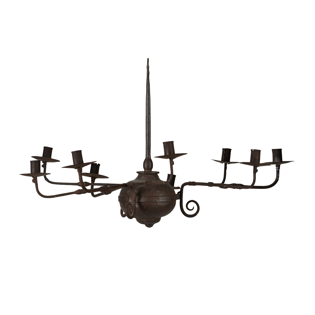 Lot 16-A WROUGHT IRON CHANDELIER