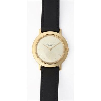 296 - A gentleman's 18ct gold wristwatch, Patek Philippe