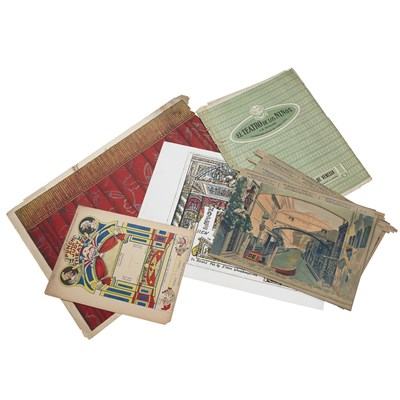 Lot 138-A RARE COLLECTION OF 19TH CENTURY TOY THEATRE SHEETS