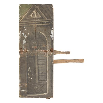 Lot 134-TWO ENGLISH PIECES OF ENGLISH TRICK SCENERY
