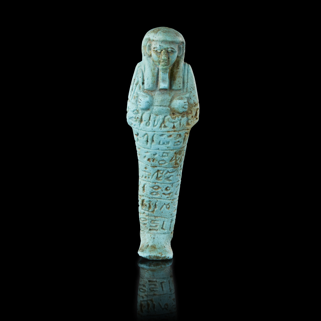 Lot 1-ANCIENT EGYPTIAN SHABTI FOR ANKH-HOR
