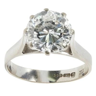 Lot 110 - A single stone diamond ring, Hamilton & Inches