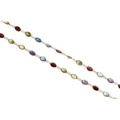 Lot 125 - A multi-gem set necklace