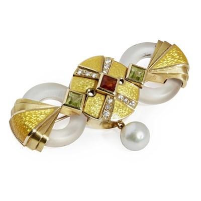 Lot 134 - A 18ct gold multi-gem set brooch, Stephen Webster