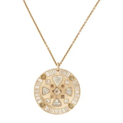 Lot 48 - A unique diamond and coloured rough diamond 'Hope Talisman' pendant, De Beers