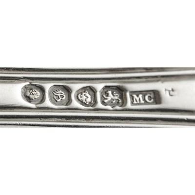 Lot 496 - A silver suite of Victorian  flatware