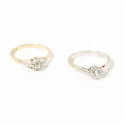 Lot 102 - Two diamond rings