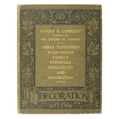 Lot 62 - 'DECORATION' CATALOGUE: MORRIS AND COMPANY