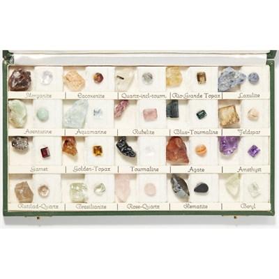 Lot 148 - A cased gem specimen set