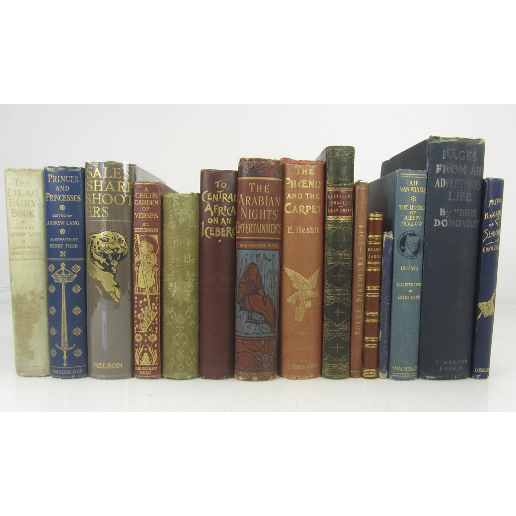 Lot 39-CHILDREN'S BOOKS WITH DECORATIVE BINDINGS