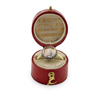 Lot 569 - AN EIGHTEENTH CENTURY JACOBITE PORTRAIT RING