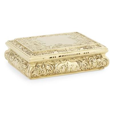 Lot 533-A RARE NINETEENTH CENTURY SCOTTISH GOLD BOX