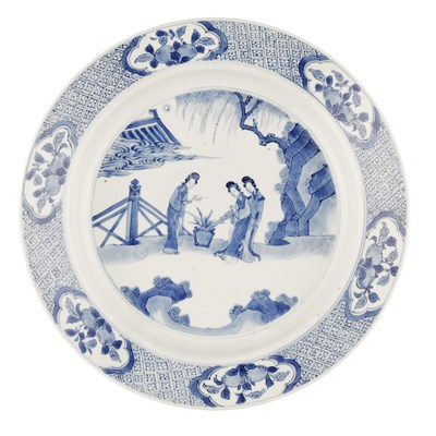 Lot 104 - BLUE AND WHITE DISH