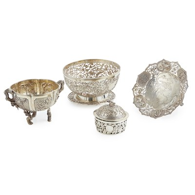 Lot 29-MISCELLANEOUS GROUP OF EXPORT SILVER