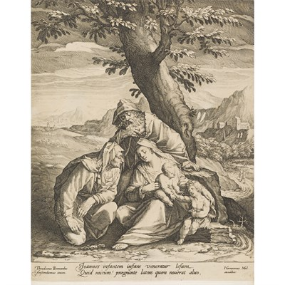Lot 26-[DUPONT, PIERRE, TAPISSIER DU ROY]. 2 VOLUMES CONTAINING ETCHINGS, MOSTLY 17TH CENTURY