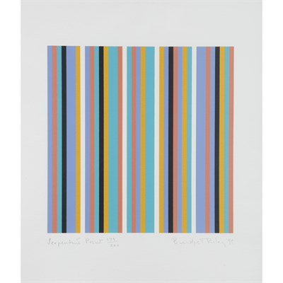 Lot 1-BRIDGET RILEY C.H., C.B.E. (BRITISH, B.1931)