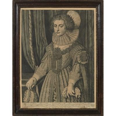 Lot 4 - F. BRUN (17TH CENTURY BRITISH) ELIZABETH,...