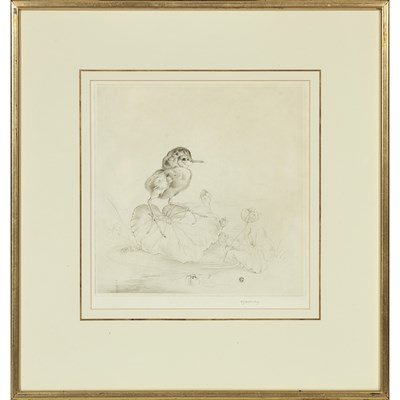 Lot 55 - EDWARD JULIUS DETMOLD (BRITISH 1883-1957) LILY...