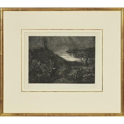 Lot 25 - SAMUEL PALMER (BRITISH 1805-1881) THE LONELY...