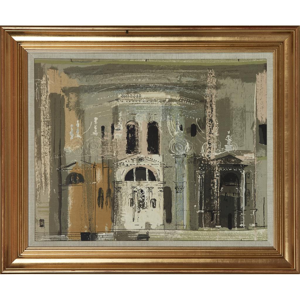 Lot 266 - JOHN PIPER C.H. (BRITISH 1903-1992) CHIESA...