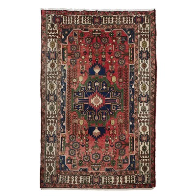 Lot 98 - NORTH WEST PERSIAN RUG MODERN the red field...