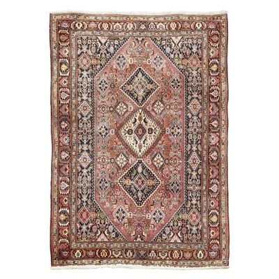 Lot 94 - QASHQAI STYLE CARPET MODERN the red field with...