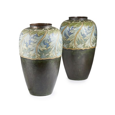 Lot 19 - CLEMENT HEATON (1861-1940) PAIR OF ARTS &...