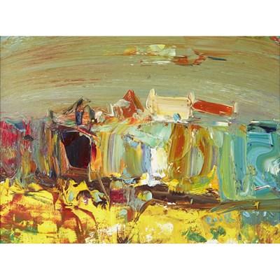 Lot 224 - DAVID COOK (SCOTTISH B 1957) FARM BY