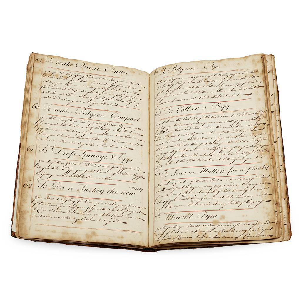 Lot 297 - MANUSCRIPT RECIPE BOOK, 1734
