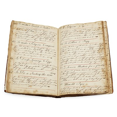 Lot 297 - MANUSCRIPT RECIPE BOOK, 1734