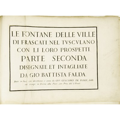 Lot 14-FALDA, GIOVANNI BATTISTA