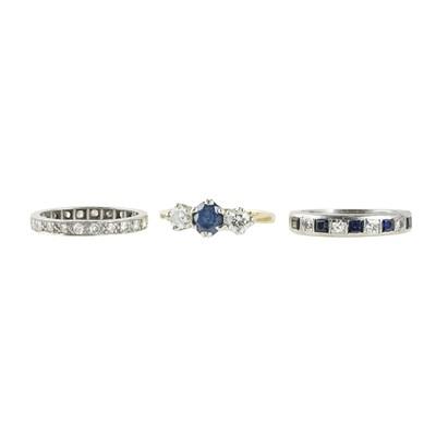 Lot 82 - Three gem set rings