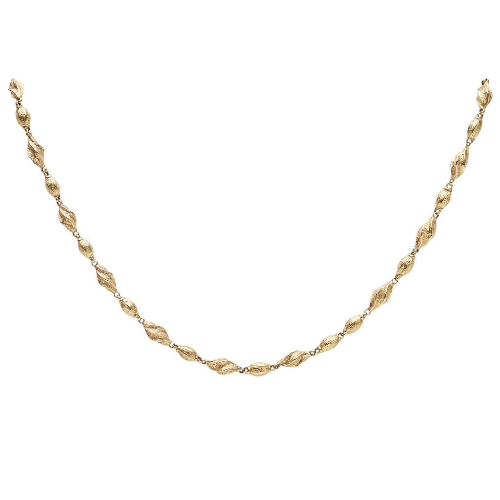 Lot 55 - A Victorian fancy link necklace