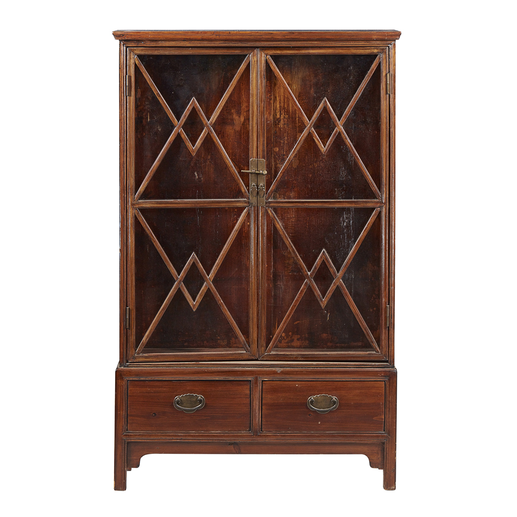 Lot 2 - WOODEN DISPLAY CABINET