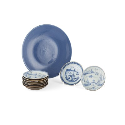 Lot 112 - NINE BLUE AND WHITE SAUCERS FROM THE CA MAU SHIPWRECK