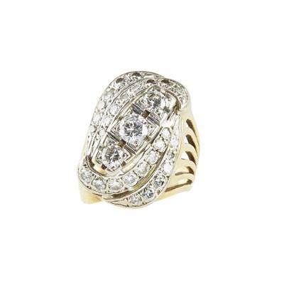 Lot 69-A diamond set cocktail ring