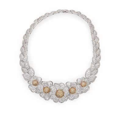 Lot 57 - A yellow and colourless diamond parure