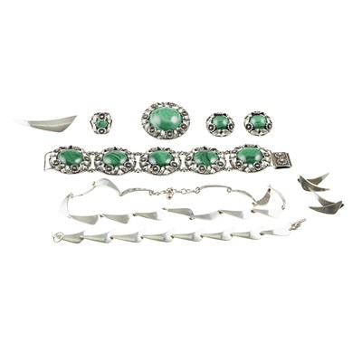 Lot 12 - Two suites of jewellery, Nils Erik From