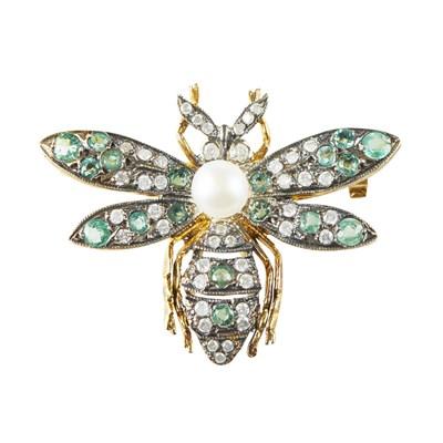 Lot 88 - A multi-gem set novelty brooch