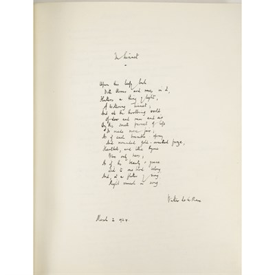 Lot 296 - MANUSCRIPT ALBUM OF AUTOGRAPHED AND SIGNED LITERARY EXCERPTS, 1923-1927